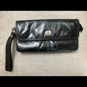 Kenneth Cole REACTION Black Leather Clutch